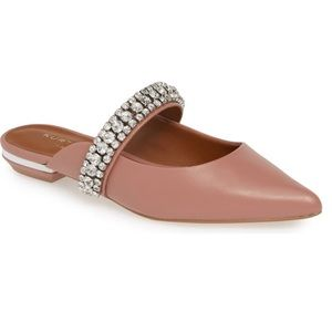 NEW Kurt Geiger Princely Embellished Mule - Blush